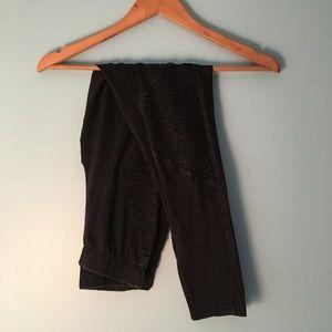Jersey biker leggings